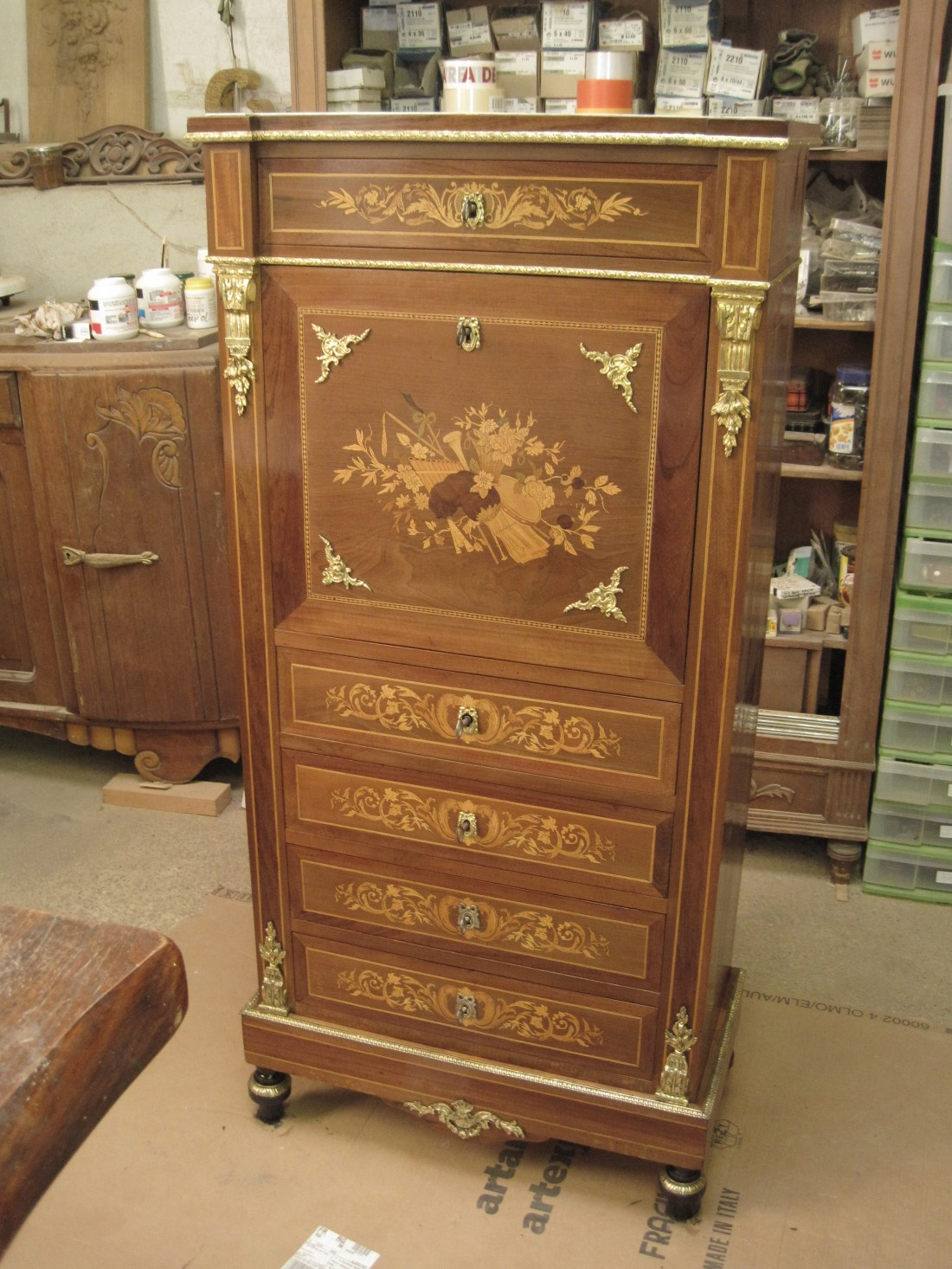 secr taire napol on iii lignes d 39 art restauration de meubles. Black Bedroom Furniture Sets. Home Design Ideas
